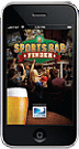Sports Bar App on iPhone